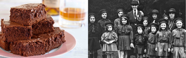 Only one of these groups of brownies is for eating. DO YOU KNOW WHICH ONE?